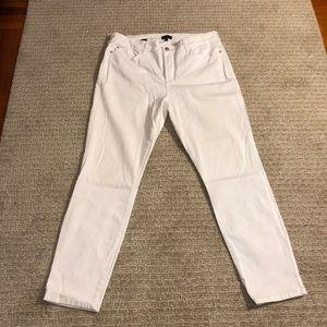 NYDJ SZ 14 White Ankle length Jeans